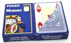 2 pieces of POKER by MODIANO, 100% plastic, 4 Jumbo Index, blue coloured 001