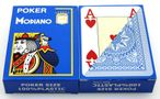 2 pieces of POKER by MODIANO, 100% plastic, 4 Jumbo Index, lightblue coloured