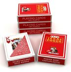 5 pieces of Texas Poker Hold´em red coloured by Modiano Italy, 100 % plastic