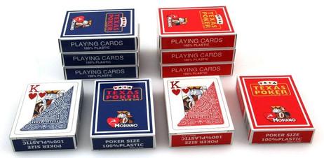 Zehnerpaket Texas Poker Hold´em von Modiano, 100 % plastic Spielkarten