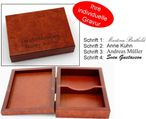 Decorative Playing cards wooden box, with print, nice gift idea 001