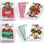 Playing cards wooden box Skat - Doppelkopf, with print, nice gift idea Image 3