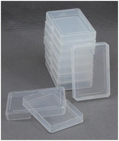 10 Stück Kunststoff - Etui (PP) Spielkarten Box für Poker Karten