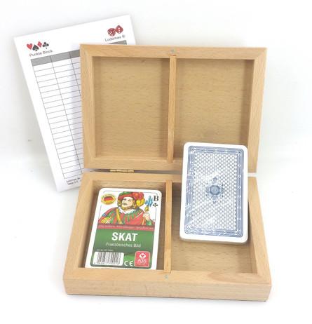 Skat Box Club, Kassette mit zwei Skat Kartenspielen, Club-Standard