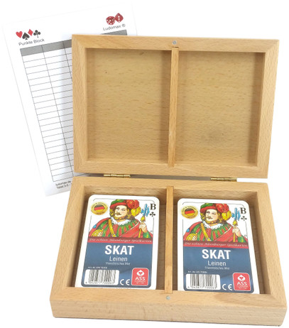 Skat Box Lines, Cassette with Two Pack Lines Quality Card Games