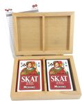 Skat Box plastic quality, cassette with pack of two 100% plastic playing cards