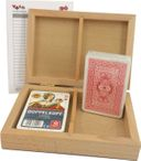 Skatbox Cornflower, German picture, cassette with two Skat card games Image 2