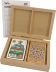 Skatbox Cornflower, German picture, cassette with two Skat card games