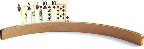 Holz - Kartenhalter 50 (ohne Spielkarten), lange Ausführung