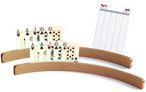 Holz - Kartenhalter, 50cm (ohne Spielkarten) - Zweierpack inklusive Spielblock