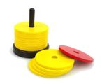 shock cutlery with 14 wooden discs, shock cutlery for puzzling Image 1