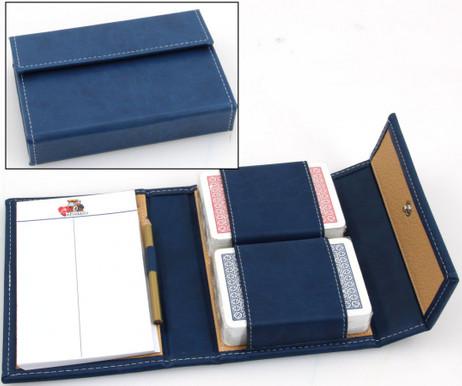 Modiano Astuccio Azzurro hochwertiges Spielkarten Etui mit Plastik Poker Karten