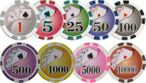 ROYAL FLUSH Premium Poker Chip with value print