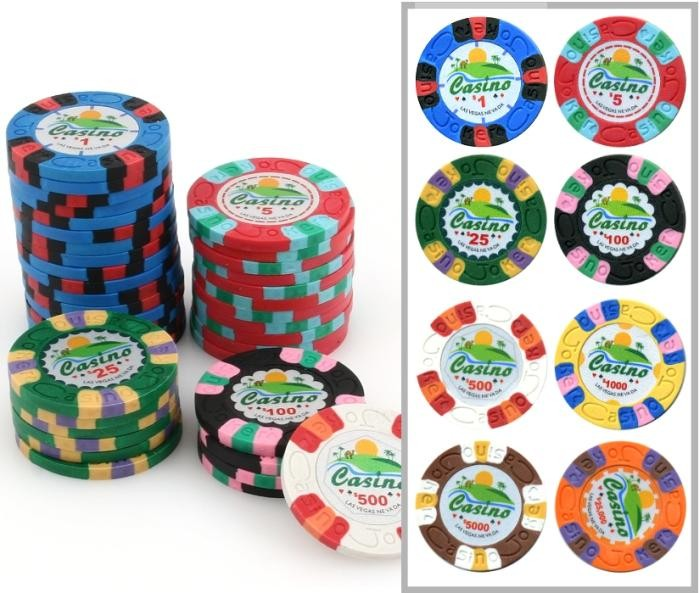 Joker Clay Composite Poker Chip With Value Print Classic Games