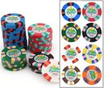 JOKER Clay Composite Poker Chip with value print