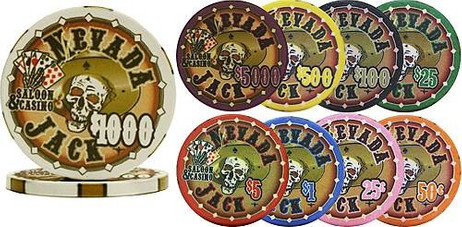 Full Ceramic Pokerchips NEVADA JACK