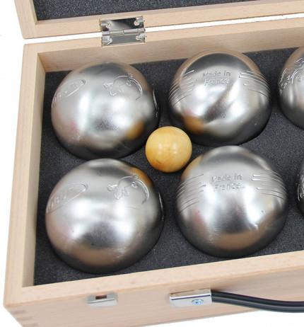obut k8 8 boule kugeln made in france geschenk idee holzkoffer mit gravur boule boccia. Black Bedroom Furniture Sets. Home Design Ideas