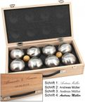 OBUT 8-SET, Leisure time Boules in the wood case, with engraving Image 5