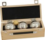 OBUT K3 Tatou, Boules Set, in wooden box, ideal for Present