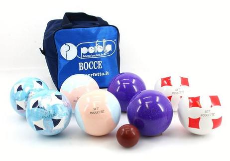 Perfetta ROULETTE italien bowls (boccia) set, 8er set