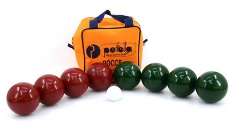 Professional Perfetta 100mm Bowl Hobby Boccia Kit with proper nylon bag
