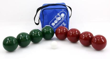 Professionelles Perfetta Hobby Boccia Set mit 80mm Kugeln in praktischer Tasche