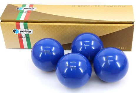 Perfetta EURA  RIVER BLUE Wettkampf Boccia Kugeln (4er Satz) in Blau