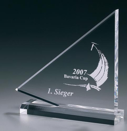 Flag Award - Acrylic glass - trophy
