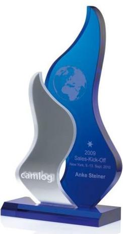 Indigo Free Spirit Award - Indigo Ice Acrylglas Trophäe
