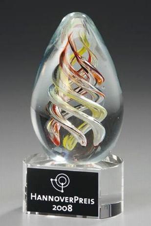 Vizenca Award - Artglass Trophie - glass Trophy