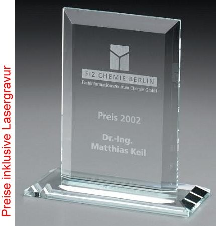 Frame - Crystal glass - trophy