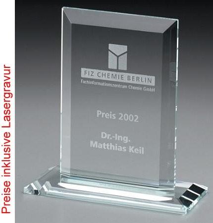 Frame, Kristall Glas - Trophäe
