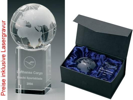 Globe Award - Crystal glass - trophy