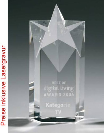Crystal Five Star Award, Kristall Glas - Trophäe