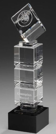 Cube Tower - Cristal glass Trophy