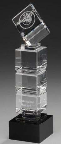 Cube Tower - Kristallglas Trophäe