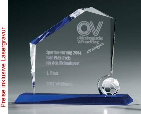 Soccer Regal Award - Crystal glass - trophy