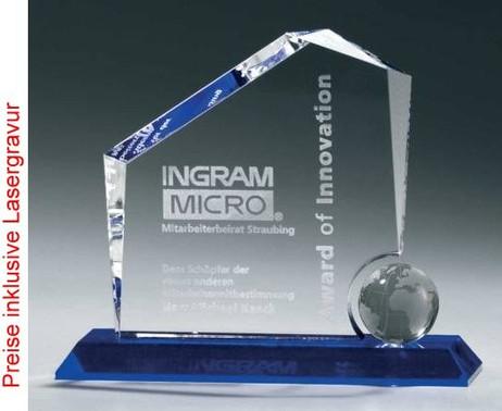 Globe Regal Award, Kristall Glas - Trophäe