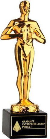 Classic Achievement Award - gold colored, marble base