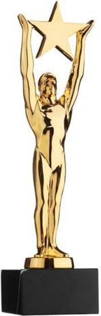 Star Achievement Award - 24K gold plated, marblebase