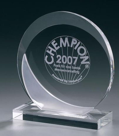 Crystal Ice Eclipse Award - Cristal glass trophy