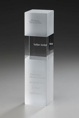 Crystal Ice Cubix - Crystal glass - trophy