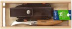 Opinel Mushroom Knife, stainless, oak, with case, wooden box and engraving