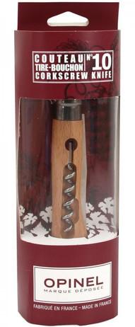 Opinel Korkenzieher Messer, Buchenholz, rostfreie Klinge, für Wein Liebhaber