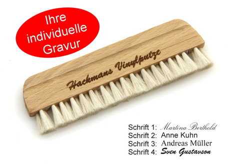 Record brush made of goat hair 14cm vinyl brush with individual engraving