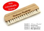 Beech wood record brush and goat hair 14cm vinyl brush, with engraving Image 1