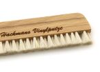 Beech wood record brush and goat hair 14cm vinyl brush, with engraving