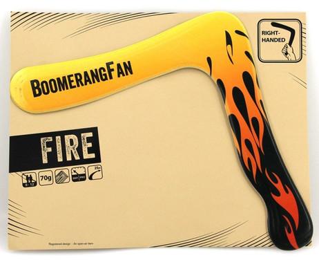 Boomerang FIRE 70 gr - Zweiflügler Bumerang für Rechtshänder