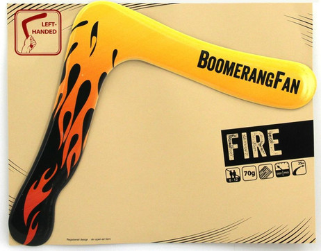 Boomerang FIRE - 70 gr - two-bladed-Boomerang for left-handers