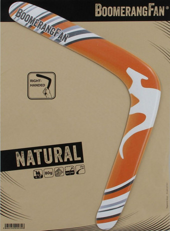 Boomerang NATURAL - 80 gr - two-bladed-Boomerang for right-handers